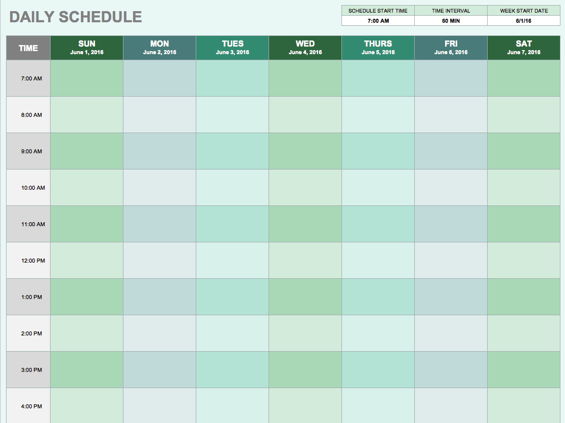 Free Daily Schedule Templates For Excel   Smartsheet Inside Daily Task Tracking Spreadsheet