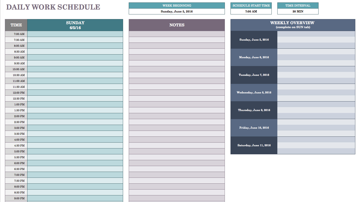 Free Daily Schedule Templates For Excel   Smartsheet Throughout Time Management Excel Template