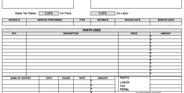 Free Dental Invoice Template | Excel | Pdf | Word (.doc) For Dental Invoice