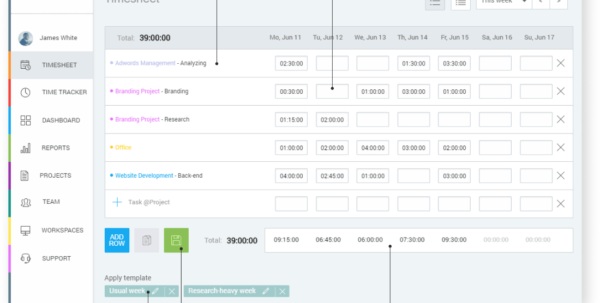 Free Employee Timesheet App   Clockify With Timesheet Clock Calculator