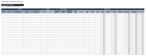 Free Excel Inventory Templates And Basic Inventory Sheet Template