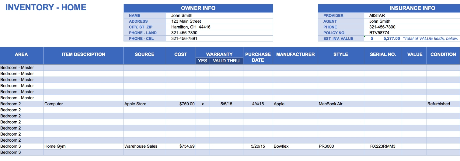 Free Excel Inventory Templates Intended For Stock Management with Excel Inventory Management Template Download