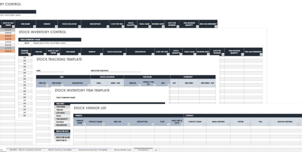 Free Excel Inventory Templates With Excel Inventory Control Template