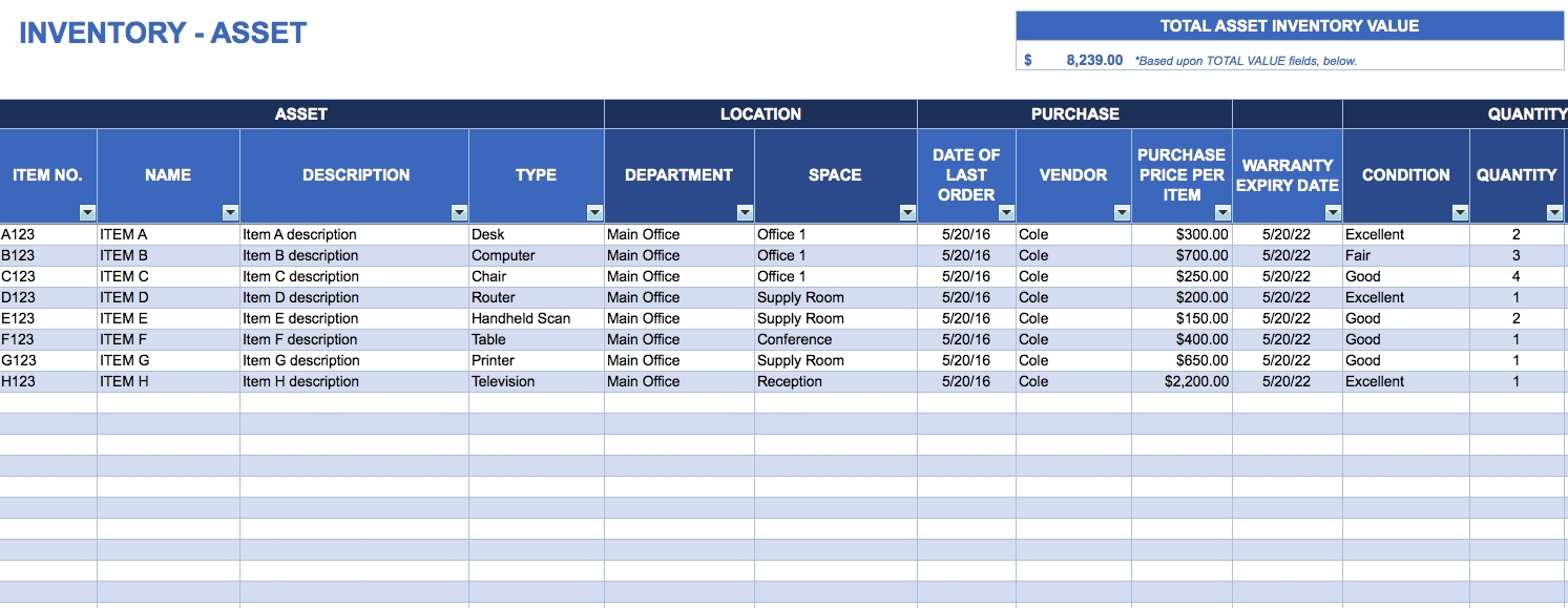 Free Excel Inventory Templates With Excel Inventory Control Template For Inventory Tracking Template Free