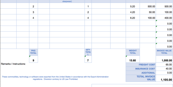 Free Excel Invoice Templates   Smartsheet For Payment Invoice Template