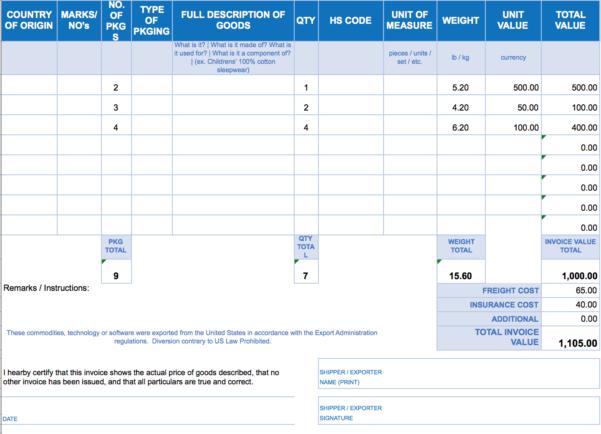 Free Excel Invoice Templates   Smartsheet Throughout Microsoft Excel Invoice Template