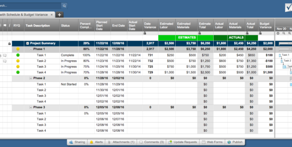Free Excel Project Management Templates For Project Expense Tracking