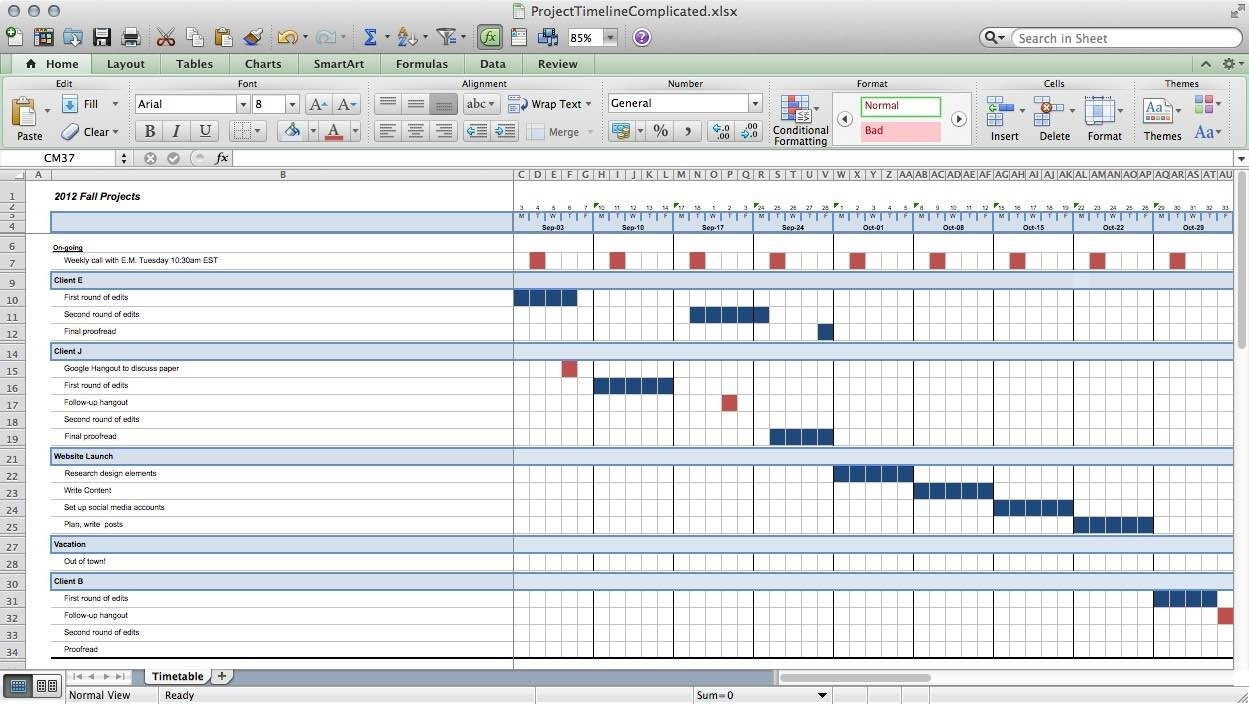 Free Excel Project Management Tracking Templates For Mac   Durun For Multiple Project Timeline Template Excel