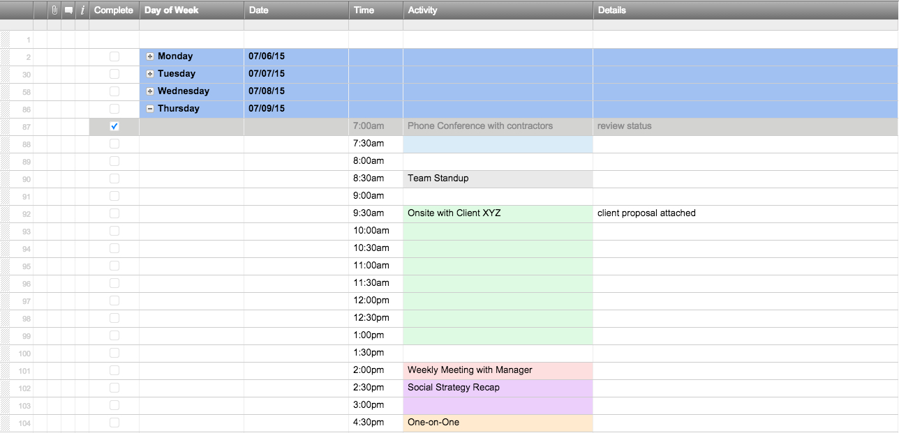 Free Excel Schedule Templates For Schedule Makers in Scheduling Spreadsheet