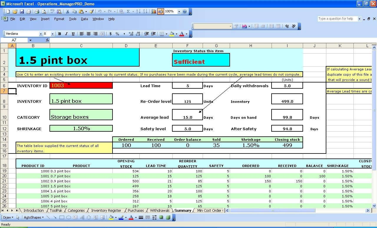 Free Excel Spreadsheet For Inventory Management Templates Within Intended For Excel Inventory Management Template Download