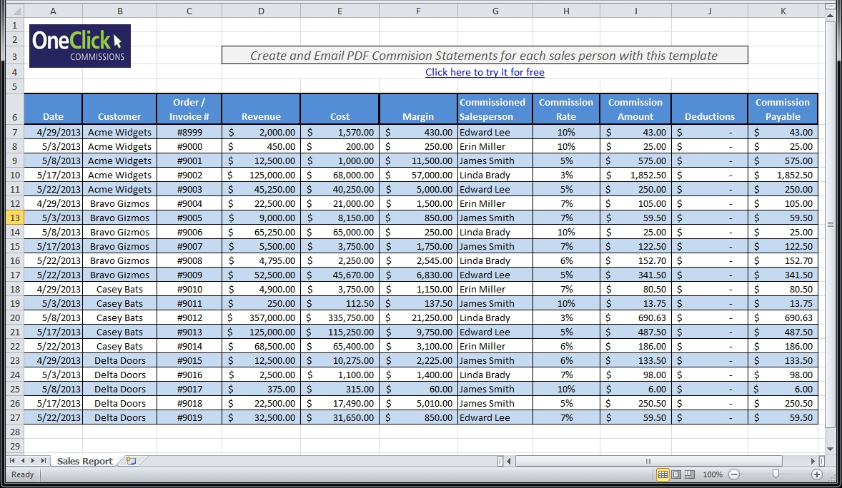 Free Excel Templates For Payroll, Sales Commission, Expense Intended In Sales Tax Tracking Spreadsheet