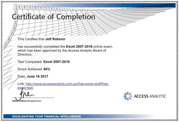 Free Excel Test   Access Analytic Inside Excel Spreadsheet Training Free Online