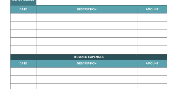 Free Expense Report Templates Smartsheet With Business Expense Template Excel