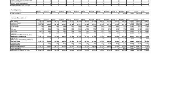 Free Financial Plan Template Excel And Pdf Download For Business Plan Inside Financial Plan Template Free