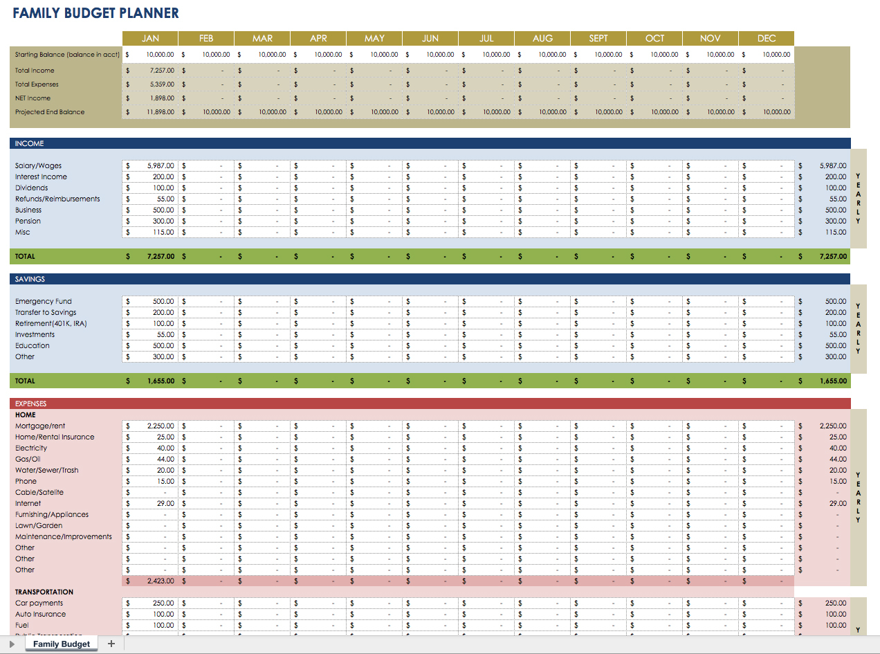 Free Financial Planning Templates | Smartsheet For Financial Planning Excel Sheet