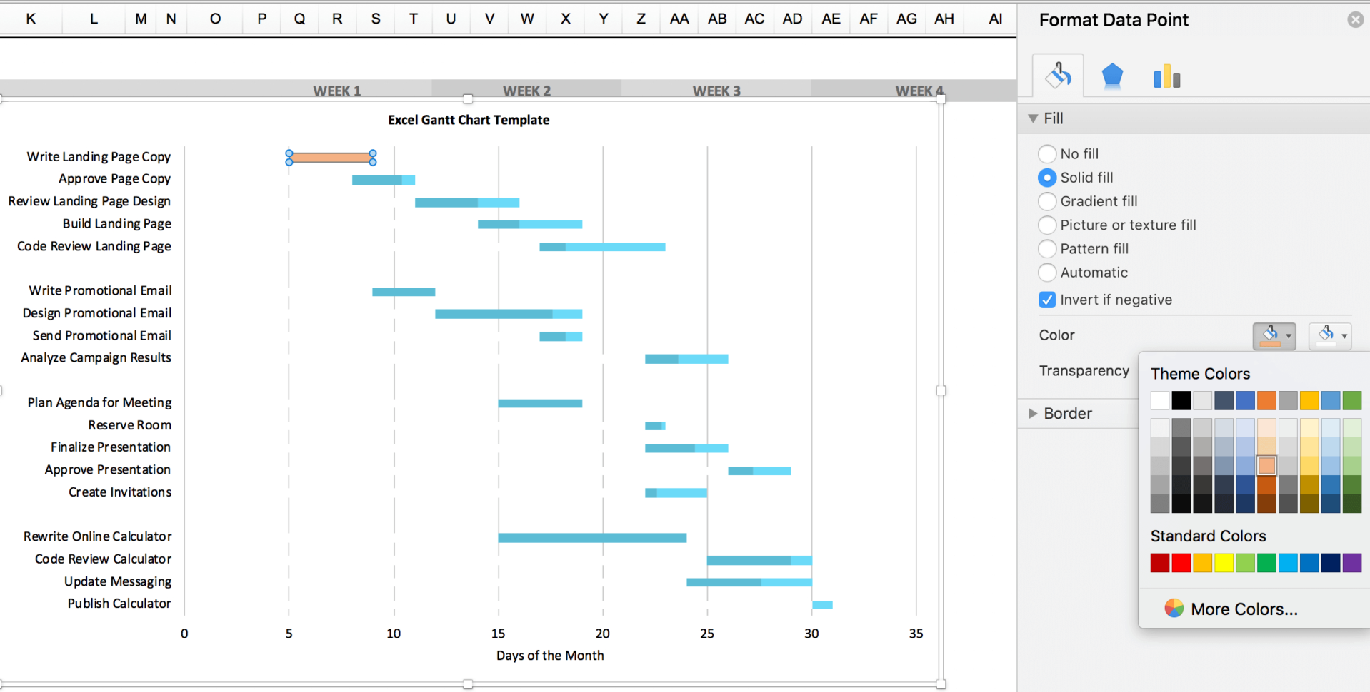 Free Gantt Chart Excel Template: Download Now | Teamgantt Within Gantt Chart Timeline Template Excel