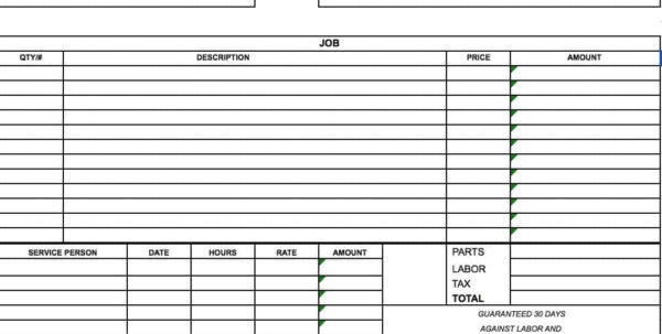 Free General Labor Invoice Template | Excel | Pdf | Word (.doc And General Labor Invoice
