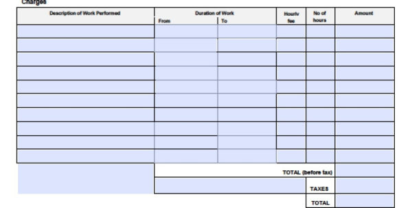 Free General Labor Invoice Template | Excel | Pdf | Word (.doc In General Labor Invoice