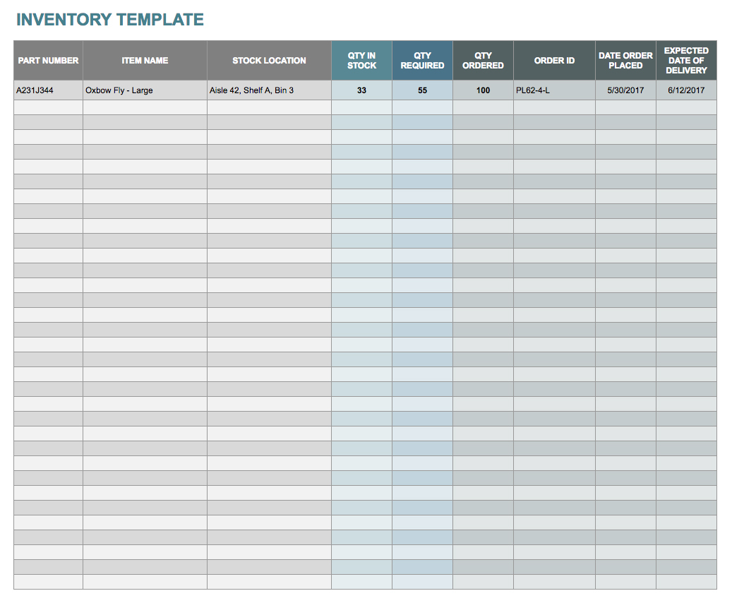 Free Google Docs And Spreadsheet Templates Smartsheet in Free Sales And Inventory Management Spreadsheet Template