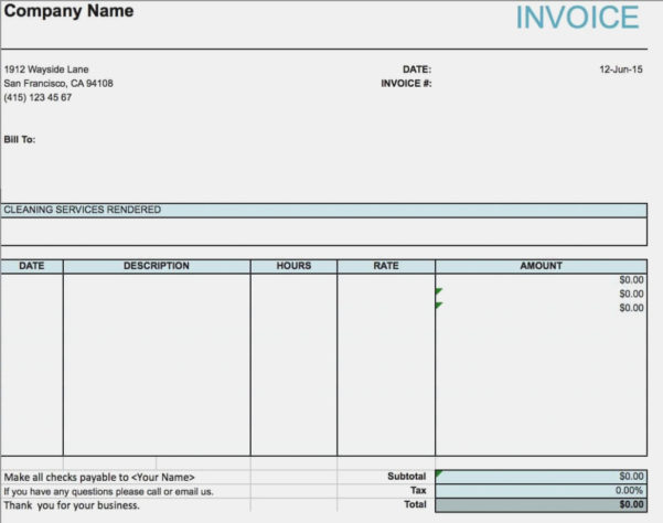 Free House Cleaning Service Invoice Template | Excel | Pdf | Word In House Cleaning Service Invoice