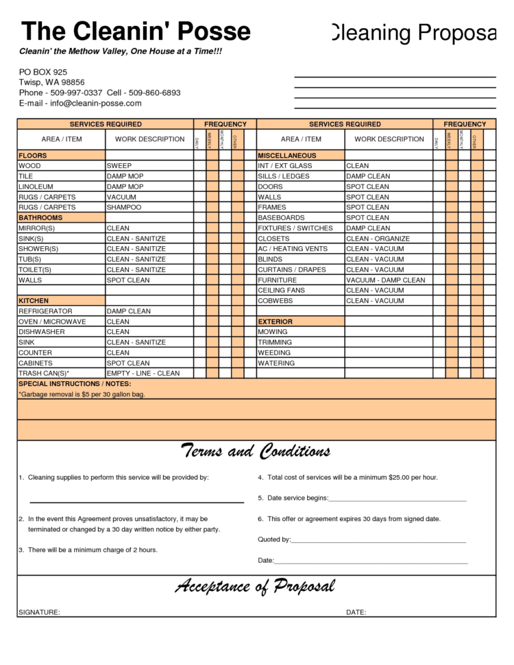 Free House Cleaning Service Invoice Template | Excel | Pdf | Word With House Cleaning Service Invoice