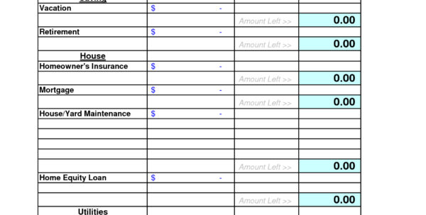 Free Household Budget Template   Resourcesaver Within Free Household Budget Spreadsheet