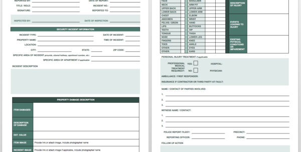 Free Incident Report Templates Smartsheet In Incident Tracking Spreadsheet
