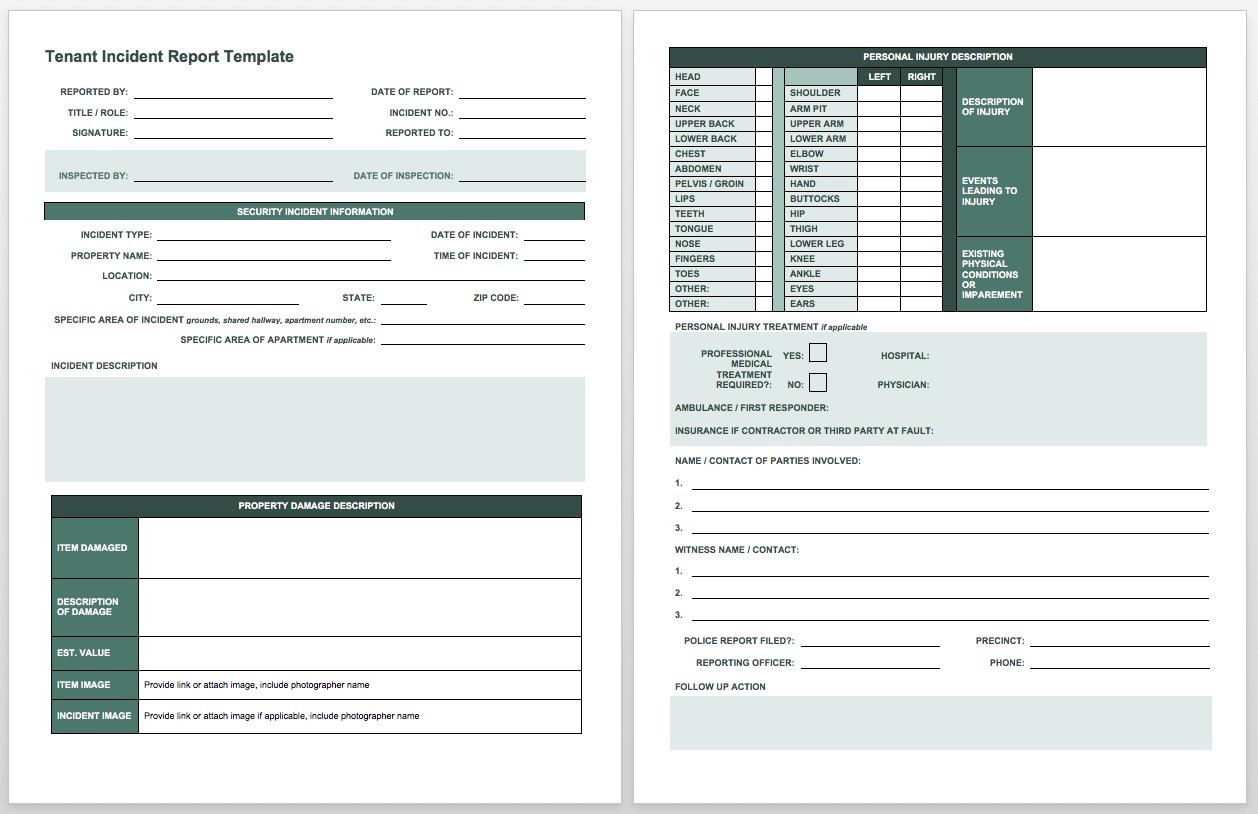 Free Incident Report Templates Smartsheet In Incident Tracking Spreadsheet