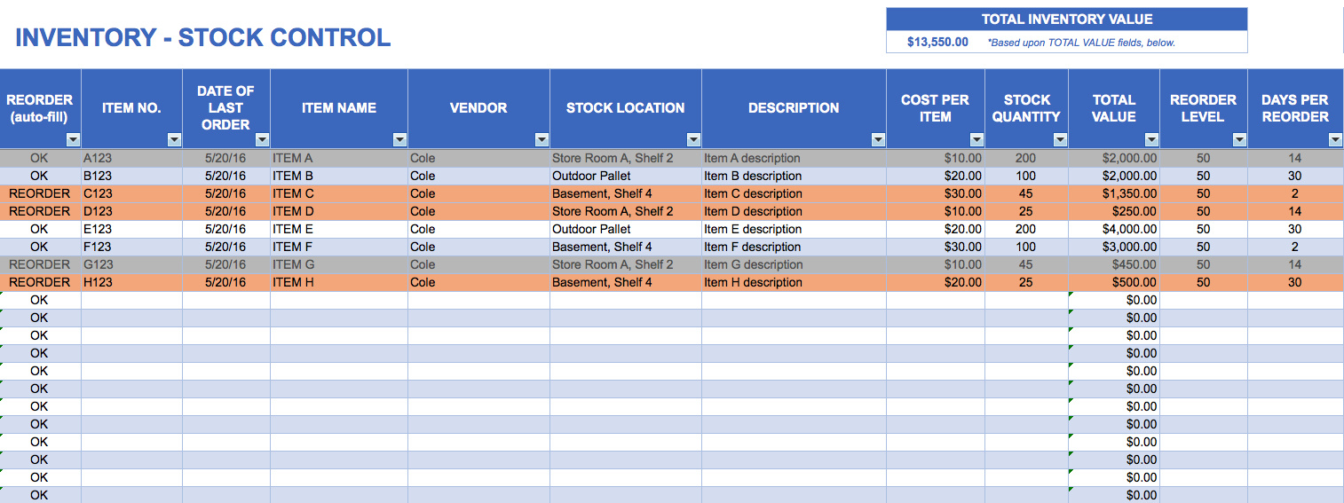Free Inventory Management Excel Spreadsheet | Spreadsheet Collections and Free Inventory Management Spreadsheet
