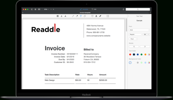Free Invoice Templates | Download Invoice Templates In Pdf With Invoice Templates For Mac