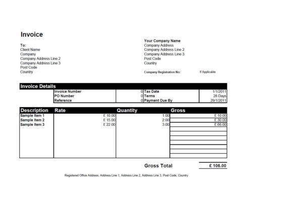 Free Invoice Templates For Word, Excel, Open Office | Invoiceberry Within Payment Invoice Template