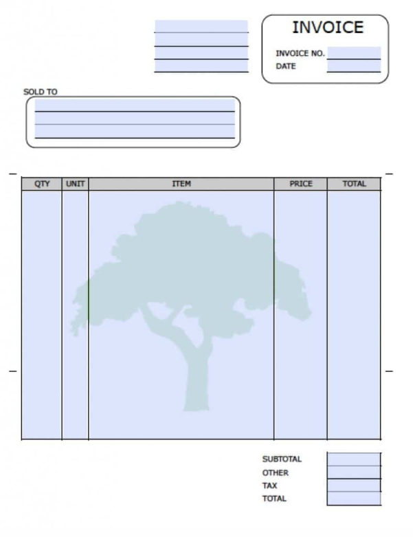 Free Landscaping (Lawn Care Service) Invoice Template | Excel | Pdf To Lawn Care Invoice Template