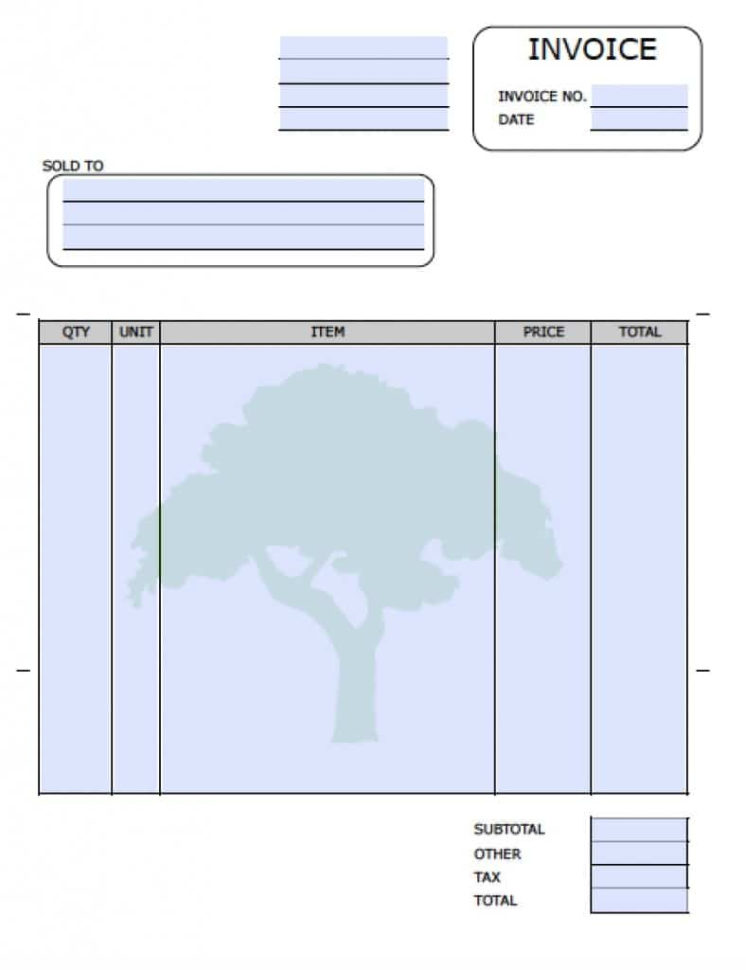 Free Landscaping (Lawn Care Service) Invoice Template   Excel   Pdf To Lawn Care Invoice Template