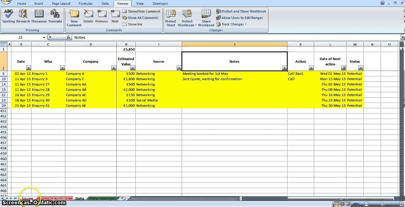 Free Lead Tracking Spreadsheet Template Download | Homebiz4U2Profit Within Lead Tracking Spreadsheet Template