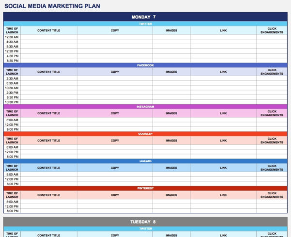 Free Marketing Plan Templates For Excel Smartsheet Inside Marketing Throughout Marketing Campaign Tracking Spreadsheet
