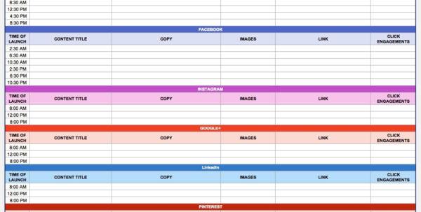 Free Marketing Plan Templates For Excel Smartsheet Inside Marketing With Marketing Tracking Spreadsheet