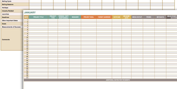 Free Marketing Timeline Tips And Templates   Smartsheet Intended For Monthly Project Timeline Template Excel