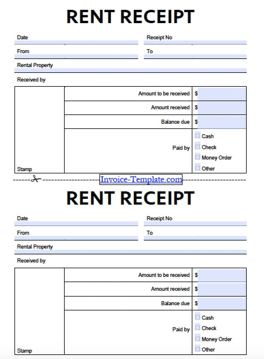 Free Monthly Rent (To Landlord) Receipt Template | Excel | Pdf With Rent Invoice Template