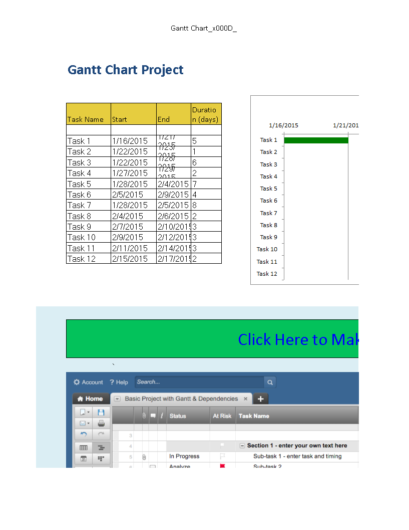 Free Multiple Project Timeline In Excel | Templates At Intended For Project Timeline Template Excel 2013