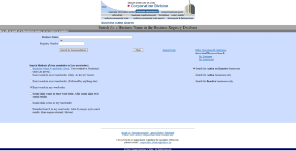 Free Oregon Articles Of Incorporation | Or Corporation Division With And Oregon State Business Registry