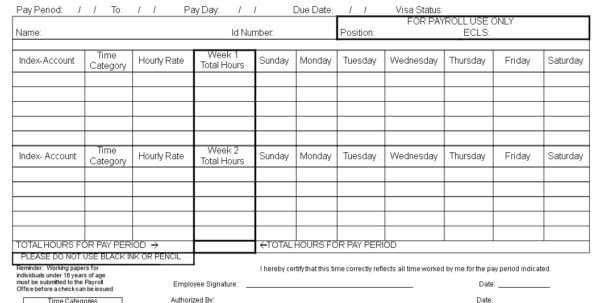 Free Payroll Timesheet Template | Templates At Allbusinesstemplates In Payroll Timesheet Template Payroll Timesheet Template Timeline Spreadsheet