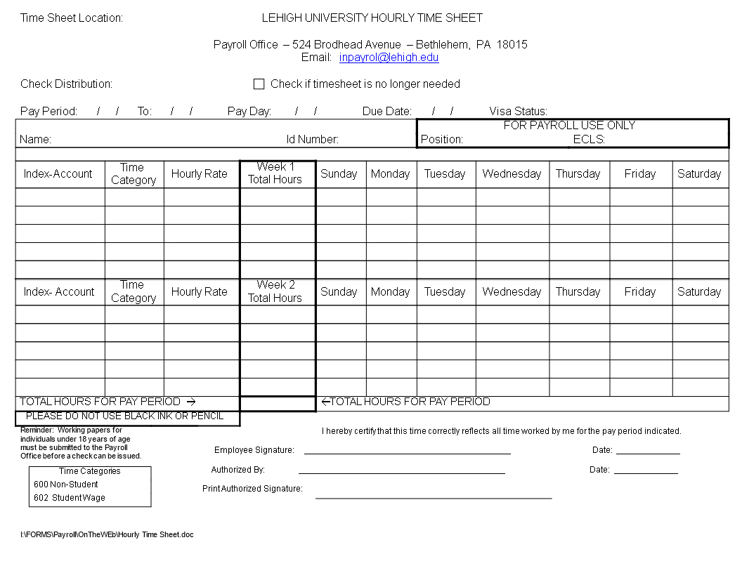 Free Payroll Timesheet Template   Templates At Allbusinesstemplates In Payroll Timesheet Template