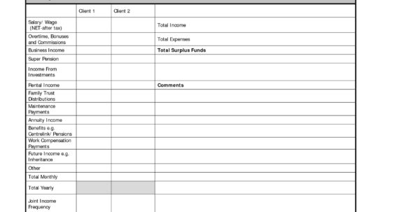 Free Personal Budget Planner   Resourcesaver For Personal Financial Planning Template Free