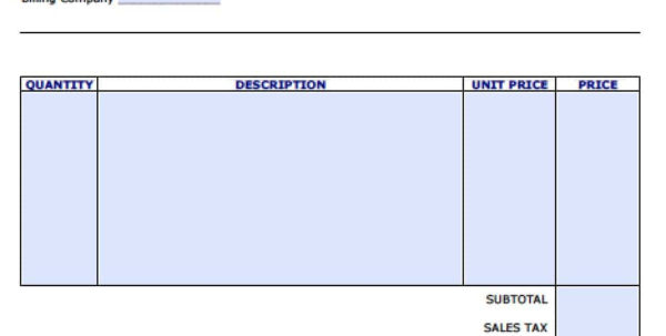 Free Personal Invoice Template | Excel | Pdf | Word (.doc) With Invoice Template Microsoft Word