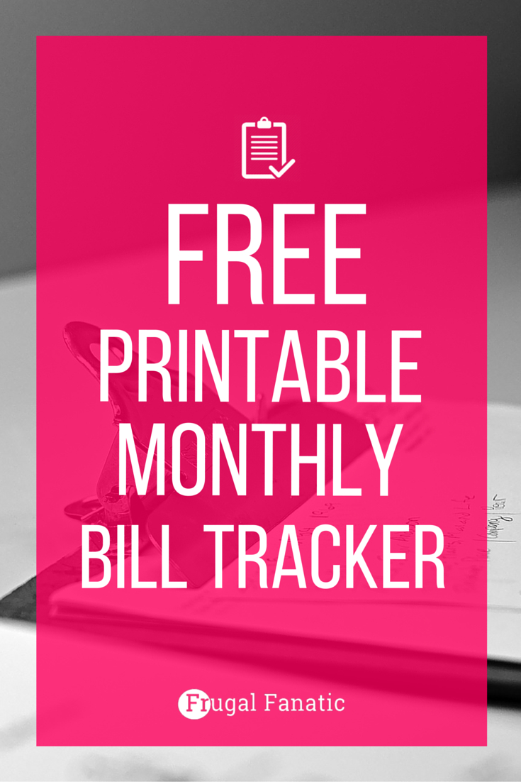 Free Printable Bill Tracker: Manage Your Monthly Expenses Inside Manage My Bills Spreadsheet