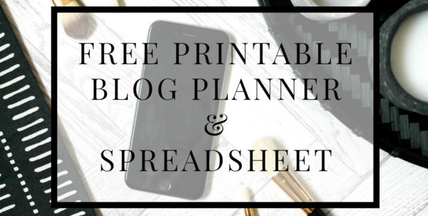 Free Printable Blog Planner & Downloadable Spreadsheet | Tea Party Throughout Downloadable Spreadsheet