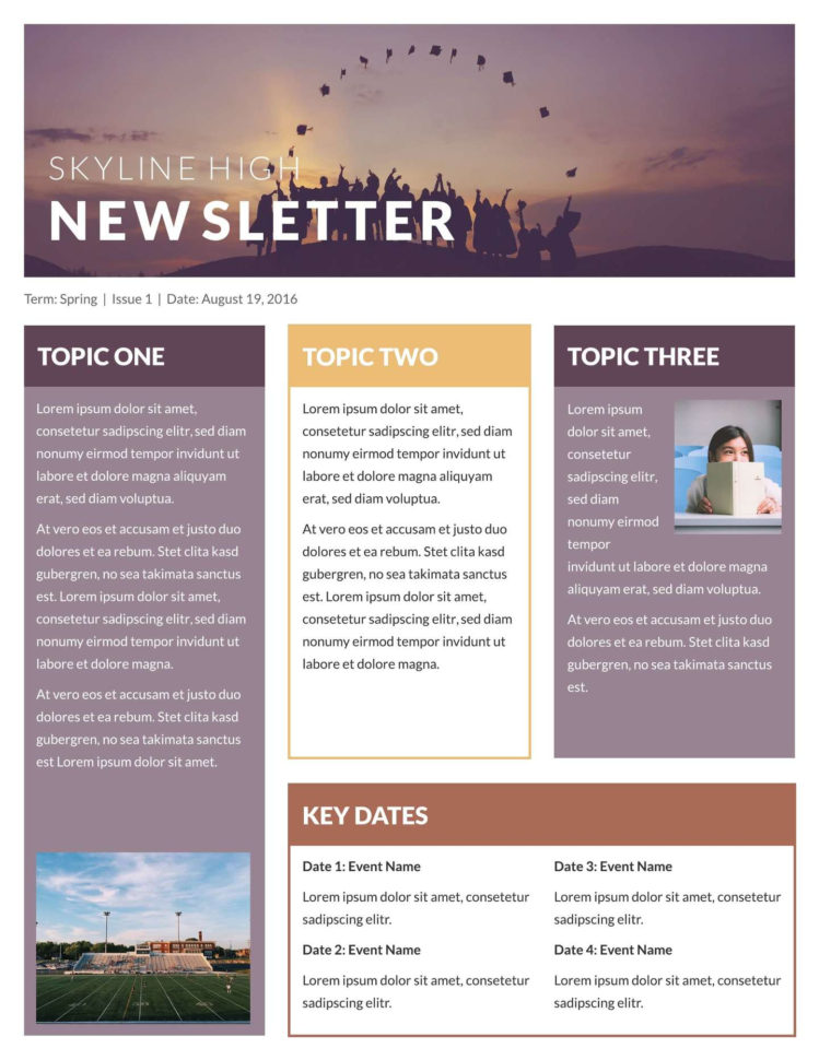 Free Printable Newsletter Templates & Email Newsletter Examples In Company Templates