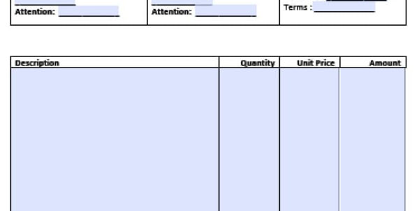 Free Professional Services Invoice Template | Excel | Pdf | Word (.doc) Within Invoice Templates For Microsoft Word