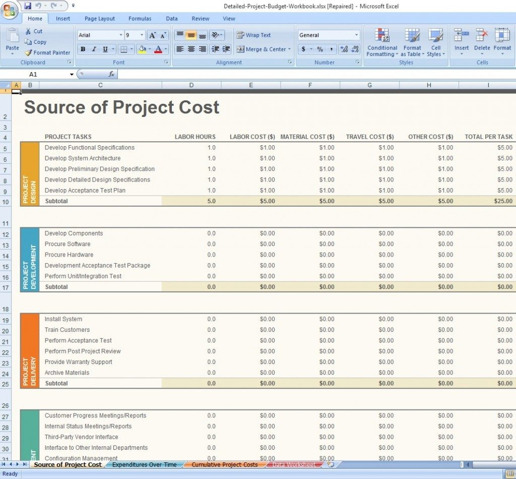 Free Project Management Excel Spreadsheet Inspirational Templates To Excel Spreadsheet Project Management