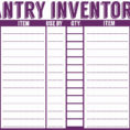 Free Restaurant Inventory Spreadsheet For Food Storage Inventory Throughout Printable Inventory Spreadsheet